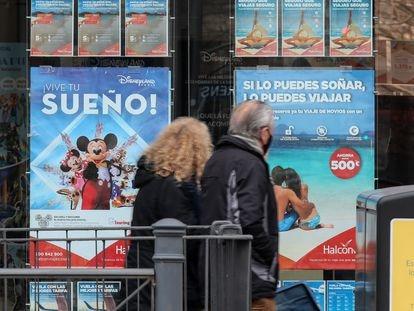 Agencia de Viajes perteneciente a Globalia en Madrid, en febrero.