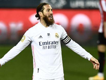 Sergio Ramos, esta temporada con el Real Madrid.