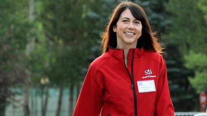 Mackenzie Scott, antes Bezos, en una conferencia en Idaho en julio de 2013.