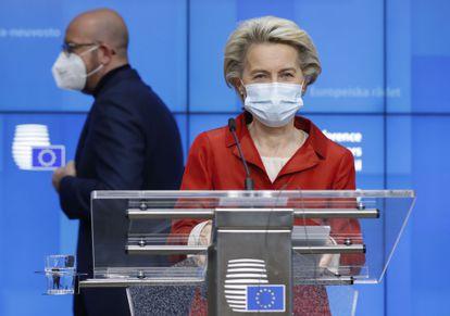 Ursula Von Der Leyen comparece en Bruselas, el pasado 29 de octubre.