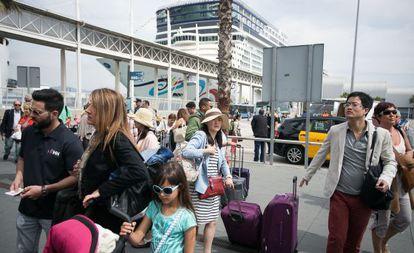 El Puerto de Barcelona batió el récord anual de entrada de turistas en un sólo día.