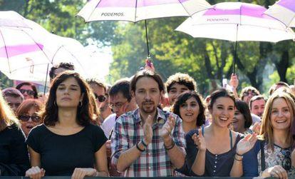 Iglesias en la marcha contra la violencia machista del sábado en Madrid.