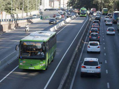 Un autobús interurbano de Madrid.