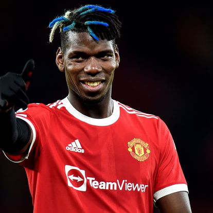 Manchester (United Kingdom), 20/10/2021.- Manchester United's Paul Pogba reacts after winning the UEFA Champions League group F soccer match between Manchester United and Atalanta BC in Manchester, Britain, 20 October 2021. (Liga de Campeones, Reino Unido) EFE/EPA/Peter Powell