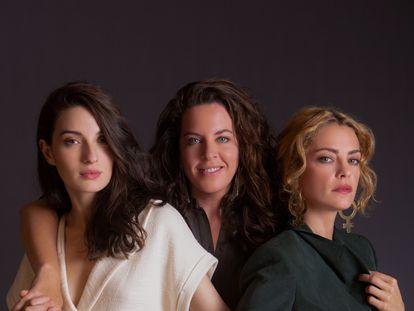 Desde la izquierda, María Valverde, la directora Claudia Llosa y Dolores Fonzi.
