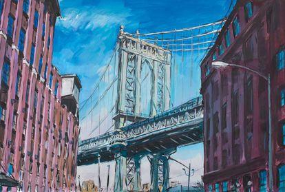 El puente de Manhattan desde uno de los rincones más 'instagrameados', en una de las muchas versiones que ha hecho Bob Dylan. |