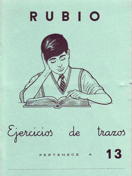Cubierta de un cuaderno Rubio de caligrafía.