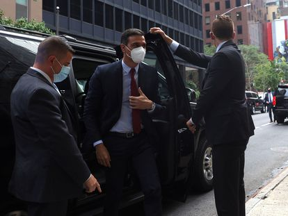 El presidente del Gobierno, Pedro Sánchez, en su visita a Nueva York. EFE/ Juanjo Martín