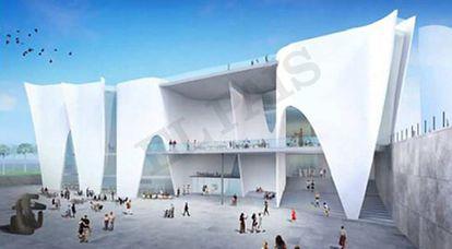 Reproducción virtual del Hermitage de Barcelona.
