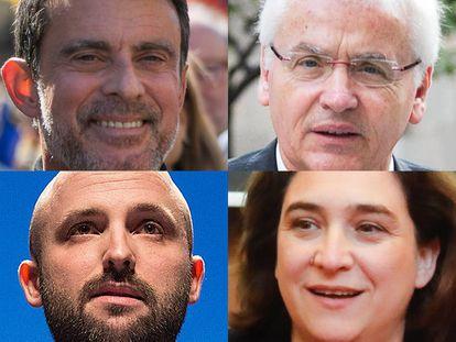 Valls, Mascarell, Graupera y Colau.