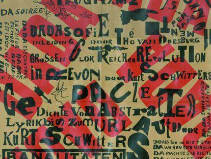 Un cartel de Kurt Schwitters y Theo Van Doesburg (1923).