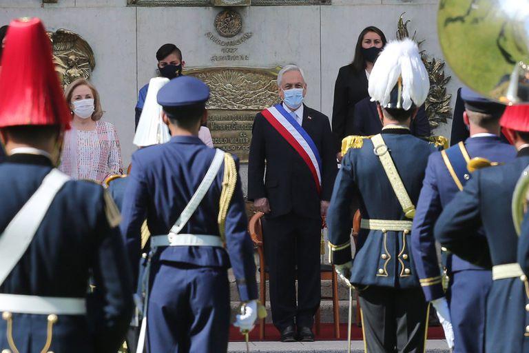 El presidente de Chile, Sebastián Piñera, participa el 19 de septiembre del Día de las Glorias del Ejército, en la Escuela Militar en Santiago (Chile).
