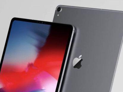 Reproducción del supuesto diseño de los nuevos iPad Pro, basada en la filtración de dibujos CAD de un fabricante de fundas