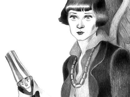 Emmy Ball-Hennings, en un dibujo de José Lázaro para el libro 'El ángel dadá'