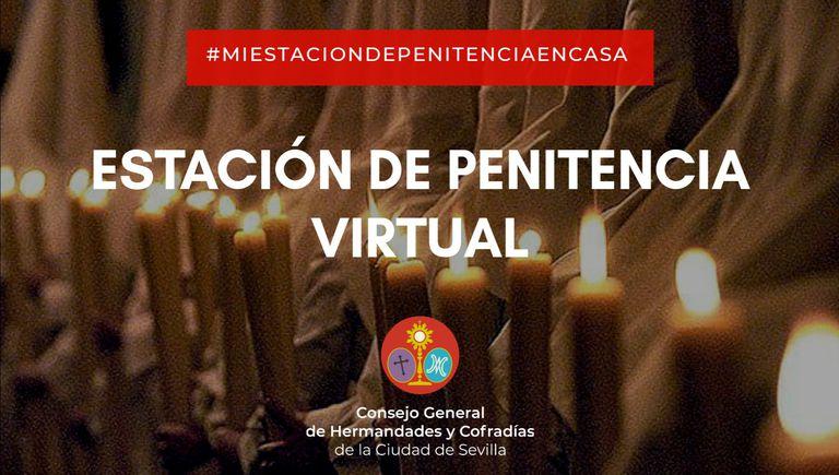 Anuncio de una de las actividades propuestas para vivir la Semana Santa por Internet.