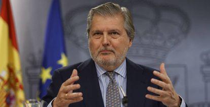 El ministro de Cultura y portavoz del Gobierno, Íñigo Méndez de Vigo, este viernes.
