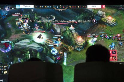 Una partida de 'League of Legends' desde la perspectiva del público.