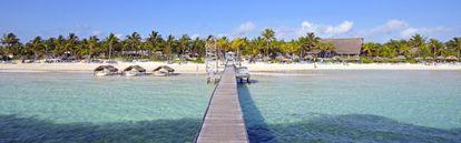 Playa privada del hotel que la cadena Meliá tiene en Cayo Guillermo, en la provincia cubana de Ciego de Ávila.