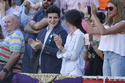 Felipe y Victoria Marichalar, el domingo en Las Ventas.
