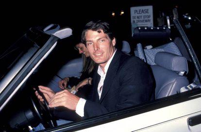 Christopher Reeve con su mujer Gae Exton en 1984.