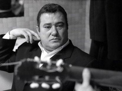 José Menese, durante un ensayo en una foto inédita.