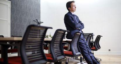 Conde-Ruiz, el pasado día 18, en una sala de reuniones de la Fedea.