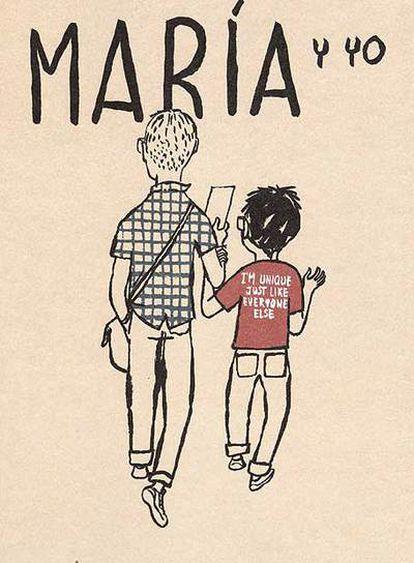 Imagen del álbum <i>María y yo, </i>de Miguel Gallardo.