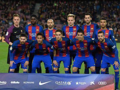 El Barça en un partido reciente.