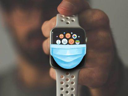 Apple Watch permitirá desbloquear los iPhone aunque lleves mascarilla.