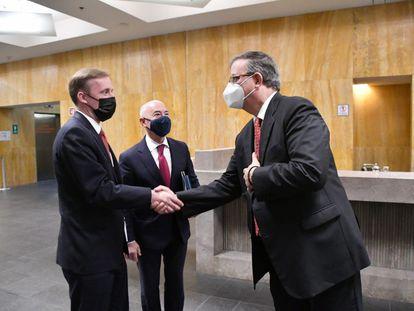 Ebrard recibe a Alejandro Mayorkas, jefe del Departamento de Seguridad Nacional, y a Jake Sullivan, asesor de Seguridad Nacional de la Casa Blanca.