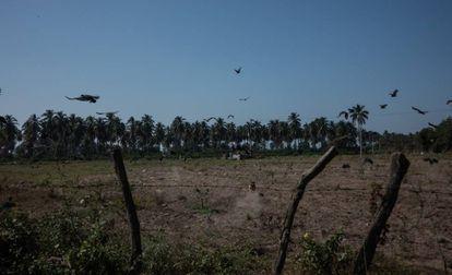 El poblado mexicano de Santa Rosa (Tecomán), donde se han encontrado 49 fosas clandestinas.