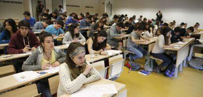 Alumnos de la Universidad del País Vasco.