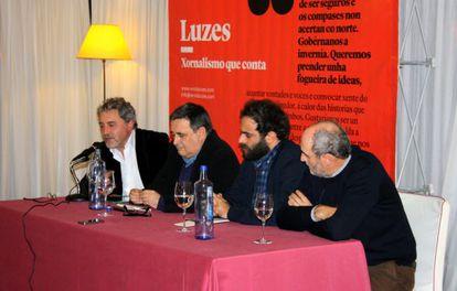 De izquierda a Derecha, Manuel Rivas, Xosé Manuel Pereiro, Iago Martínez y Jacobo Bermejo