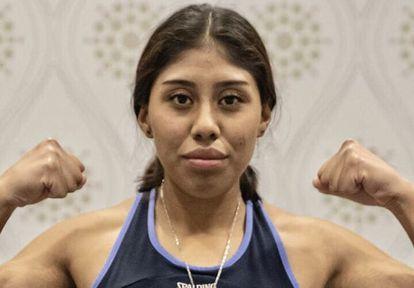 La boxeadora Jeanette Zacarías.