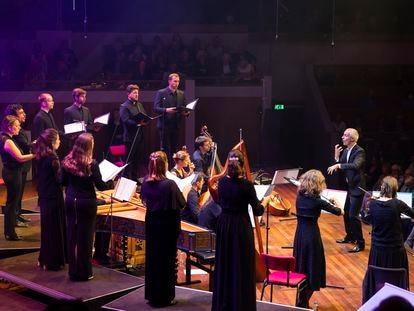 Sébastian Daucé y su Ensemble Correspondances durante el concierto inaugural del pasado viernes.