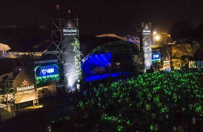 El escenario principal del BBK LIVE en 2019, el año más reciente en que se celebró.