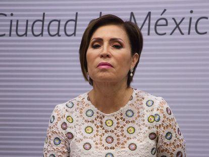 La exfuncionaria mexicana Rosario Robles, durante una comparecencia en 2018.