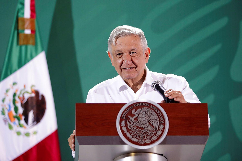 Andrés Manuel López Obrador, presidente de México, en Manzanillo, Colima (México).