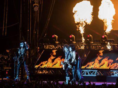 Actuacion de Kiss en el Resurrection Fest en Viveiro.
