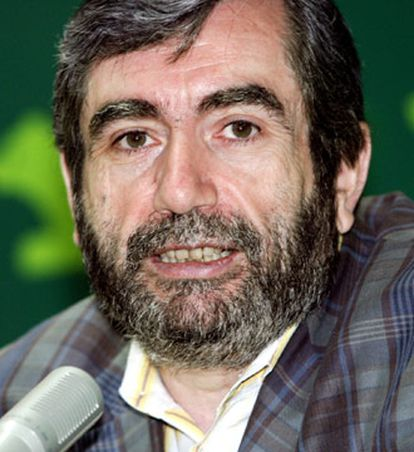 Muñoz Molina, hoy durante su conferencia en San Lorenzo del Escorial.