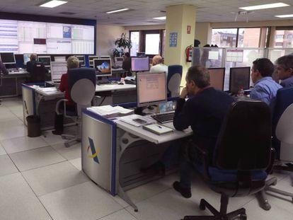 Centro de control de la Agencia Tributaria.