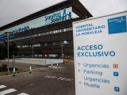 Hospital privado de Sanitas La Moraleja, en el barrio de Sanchinarro en Madrid.
