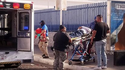 El candidato Abel Murrieta Gutiérrez fue trasladado a un hospital, luego de sufrir el atentado.