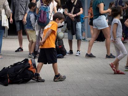 Inicio de las colonias de verano organizadas por Fundesplai, en Barcelona, en junio de 2021. /  [Carles Ribas]