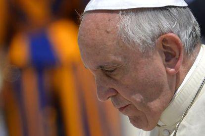 El papa Francisco, ayer en el Vaticano.