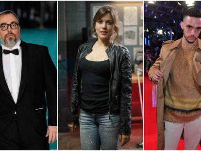 En la imagen, el director de cine Álex de la Iglesia, la actriz Adriana Ugarte y el cantante C.Tangana. Estos casos rompen con esa fama que arrastra la carrera de Filosofía, una de las que más miedo infunde en los padres.