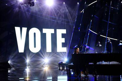 Demi Lovato, en una actuación en los premios Billboard de la música, en Los Ángeles, el pasado octubre.