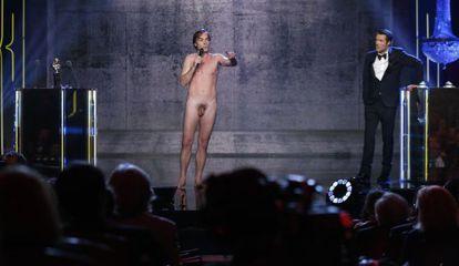 El actor Sébastian Thiéry, desnudo en la gala de los Premios Molière