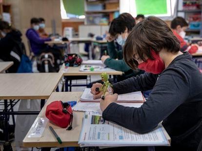 Alumnos de un colegio público de Valencia.
