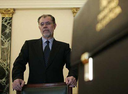 El ministro de Justicia, Mariano Fernández Bermejo, en su despacho.